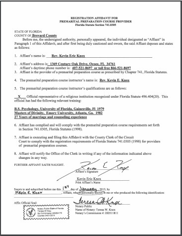 florida marriage license state file number