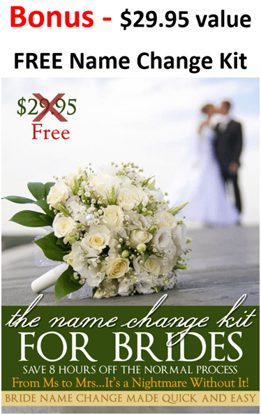 Name change kit for brides for free