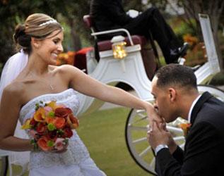 Disney Wedding carriage